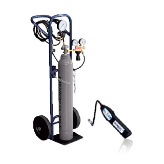 LOKTRACE Tracer Gas Leak Detection - Cylinder trolley set for tracer gas leak detection