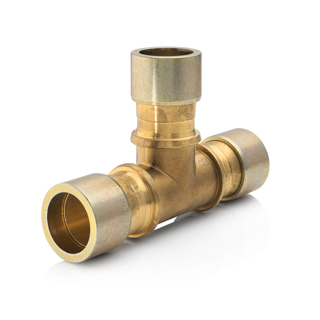 LOKRING Brass Connectors - Brass T-connectors